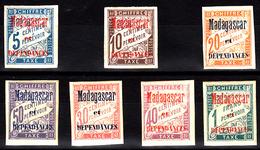 MADAGASCAR - TAXE N° 1/7 - SERIE DE 1896 COMPLETE (sans Gomme). - Madagascar (1889-1960)