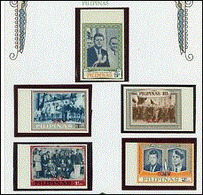 Philippines 1963 Dignitaires Obsèques John Kennedy Charles De Gaulle Et Yvonne Beaudoin Roi Des Belges Imperf MNH - De Gaulle (General)