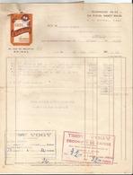 Facture - Vieux Papier - 1950 - Café Eberhard à Epinal - Pub  - Vosges  - 88 - France