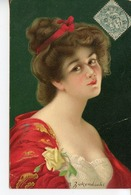 1489. CPA ILLUSTRATEUR ZICKENDRAH. FEMME EN ROUGE 1907 - Illustratoren & Fotografen