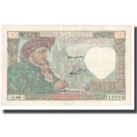 France, 50 Francs, Jacques Coeur, 1942, 1942-02-05, TTB, Fayette:19.19, KM:93 - 1871-1952 Antichi Franchi Circolanti Nel XX Secolo