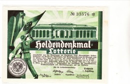 Österreich 1934, Heldendenkmal - Lotterie - Allemagne