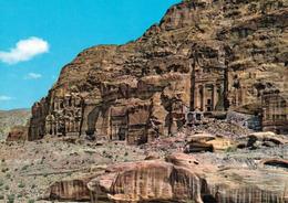 1 AK Jordanien Jordan * Gräber Der Nabatäer In Der Antiken Stadt Petra - Seit 1985 UNESCO Weltkulturerbe - Krüger Karte - Jordanien