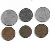 Allemagne 6 Pièces Année Divers - 1875 - 1940 - 1964 - 1965 - 1966 - 1968 - Réf H10 - [11] Collections