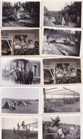 LOT PHOTO ORIGINALE 39 / 45 WW2 WEHRMACHT / LA GUERRE EN EUROPE / DIVERS FORMATS / N°11 - War, Military