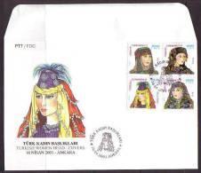 2001 TURKEY TURKISH WOMEN HEAD COVERS FDC - 1921-... República