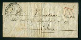 LETTRE  DE  BEAUMONT-SUR-OISE  CAD  DU  17  AVRIL 1844  POUR  CAHORS  . - Marcophilie (Lettres)