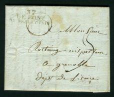 LETTRE  DE  PONT DE BEAUVOISIN  DU  20  JANVIER  1814  POUR  GRENOBLE . - Poststempel (Briefe)