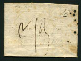 LETTRE  DU  10  JUIN 1818  POUR  BASTIA  . - Poststempel (Briefe)