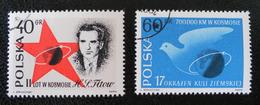 VOL DE TITOV DANS LE COSMOS 1961 - OBLITERES - YT 1120/21 - MI 1257/58 - 1944-.... République