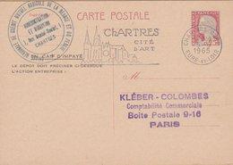CARTE  TYPE MARIANNE DE DECARIS 0.25 C  1965 CHARTRES GARE - Entiers Postaux