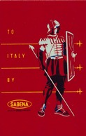 Étiquettes à Bagages - Sabena - To Italie - Baggage Labels & Tags