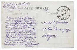 1919 - HOPITAL RUSSE POUR LES BLESSES MILITAIRESà NICE ! - CARTE => ANGERS - Postmark Collection (Covers)