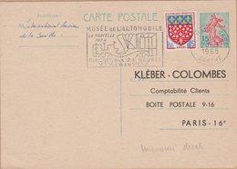 CARTE  TYPE  SEMEUSE LIGNEE DE PIEL 0.20C  1965 LEMANS GARE - Entiers Postaux