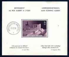 BELGIQUE- BLOC DE 1938 MONUMENT AU ROI ALBERT A L'YSER- CAD 17-2-38- GOMME D'ORIGINE SANS CHARNIERE-2 SCANS- - Blocs 1924-1960