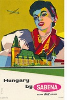 Étiquettes à Bagages - Sabena - Hungary By Sabena - Baggage Labels & Tags