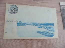 Carte Photo 75 Paris Bleutée Pont D'Austerlitz 1904 - Cartas Panorámicas