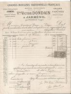 Facture - Vieux Papier - Gerard Dodain - Jarménil Par Pouxeux - Grains Et Farines  - 1894- Vosges  - 88 - France