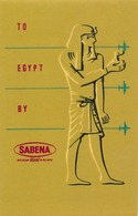 Étiquettes à Bagages - Sabena - To Egypt By Sabena - Baggage Labels & Tags