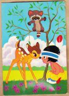 Ani153 Carte Musicale à Système BAMBI Et Enfant Indien HIAWATHA WALT DISNEY Music Musikalische à TOUTAIN Ribas Venelle - Mechanical