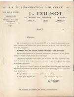 Facture - Vieux Papier - L.Colntot - La Vulcanistation Nouvelle à Epinal - Pneus Neufs Et Occasions  Vosges  - 88 - France
