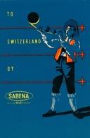Étiquettes à Bagages - Sabena - To Switzerland By Sabena - Étiquettes à Bagages
