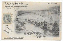 MONACO - 1907 - TYPE BLANC De FRANCE AFFRANCHISSANT Une CARTE De MONTE CARLO !!!  => MARSEILLE - 1877-1920: Periodo Semi Moderno