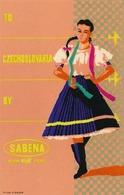 Étiquettes à Bagages - Sabena - To Czechoslovakia By Sabena - Baggage Labels & Tags