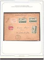 Lettre AVION TARIF 1937 Chargé VD  Nantes → La Roche/Yon 3fr05 - 1927-1959 Lettres & Documents