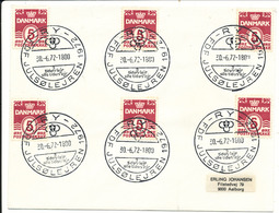 Denmark Cover Scout Scouting Ry FDF Julsölejren 1972 30-6-1972 - Scouting