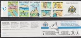 San Marino 1990 European Tourism Year Booklet ** Mnh (44436) Promotion - Boekjes