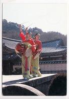 Traditional Korean Drum Dancers At Haein-sa Temple, Korea, 1985 Used Postcard [23439] - Korea, South