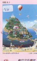 Telecarte JAPON * (1880) BALLON * MONTGOLFIERE - Hot Air Balloon * Aerostato * Heißluft PHONECARD JAPAN - - Sport