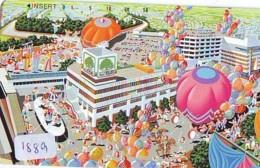 Telecarte JAPON * (1889) BALLON * MONTGOLFIERE - Hot Air Balloon * Aerostato * Heißluft PHONECARD JAPAN - - Sport