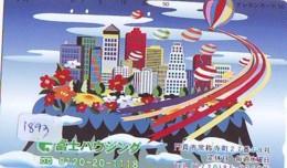Telecarte JAPON * (1893) BALLON * MONTGOLFIERE - Hot Air Balloon * Aerostato * Heißluft PHONECARD JAPAN - - Sport