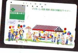 Telecarte JAPON * (1905) BALLON * MONTGOLFIERE - Hot Air Balloon * Aerostato * Heißluft PHONECARD JAPAN - - Sport