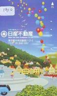 Telecarte JAPON * (1910) BALLON * MONTGOLFIERE - Hot Air Balloon * Aerostato * Heißluft PHONECARD JAPAN - - Sport