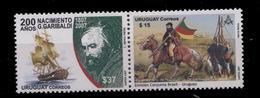 Uruguay ** N° 2321/2322 Se Tenant - Giuseppe Garibaldi - Voilier - Uruguay