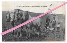 BLANGY Sur BRESLE   Un Laboureur Et Son Attelage     Reproduction - Blangy-sur-Bresle