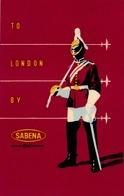 Étiquettes à Bagages - Sabena - To London By Sabena - Baggage Labels & Tags