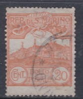 Saint-Marin N° 37  O  Partie De Série :  20 C. Orange Oblitération Légère Sinon TB - Saint-Marin