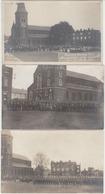 28707g MANIFESTATION A LA MEMOIRE DES FUSILLES 1914 - Tamines 25 Mai 1919 - Série 3 Cartes Photo - Sambreville