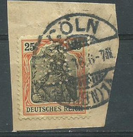 Timbre Allemand 1900 Reichpost 25 Pf Orange Obliteration Coln Perforé - Allemagne