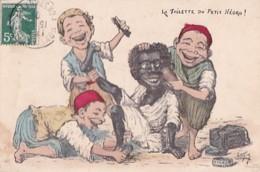 LA TOILETTE DU PETIT NEGRO    PAR CHAGNY - Kinderen