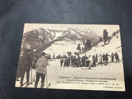 SAINT PIERRE DE CHARTREUSE Soorts D'hiver - Course De Skieurs - Les Bargettes Et Le Grand Som - Other Municipalities