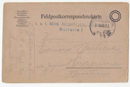 Austria Croatia WWI Feldpostkarte Travelled 191? K.u.k. Schw. Feledartillerie FP 44 To Krapina B190901 - Croatia