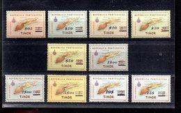 TIMOR 299/308** SUR LA CARTE DE L ILE SURCHARGEE - Timor