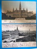 2 AK Litho Wien 1903 Und 1904 - Wien Mitte