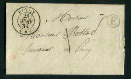 LETTRE   DU  28  JUIN  1844  POUR  PINEY   . - 1801-1848: Précurseurs XIX