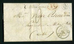 LETTRE  DE  TROYES  DU  25  AOUT  1846  POUR  PINEY   . - Marcophilie (Lettres)